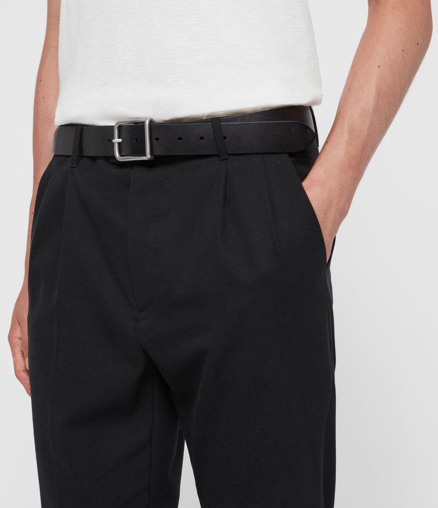 Mens Zain Leather Belt (black) - Image 3