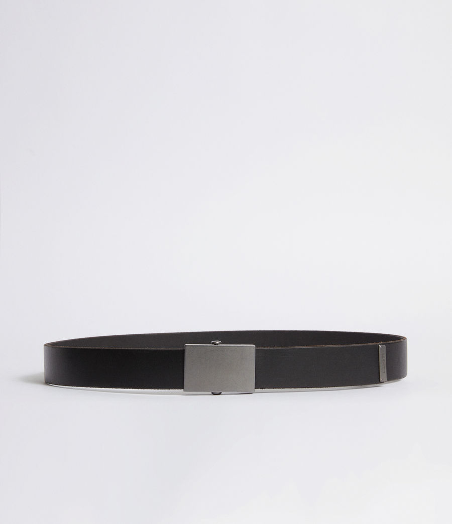 Mens Hawken Leather Belt (black) - Image 1