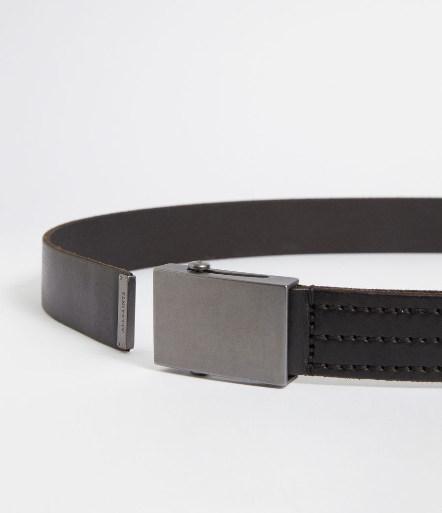 Mens Hawken Leather Belt (black) - Image 3
