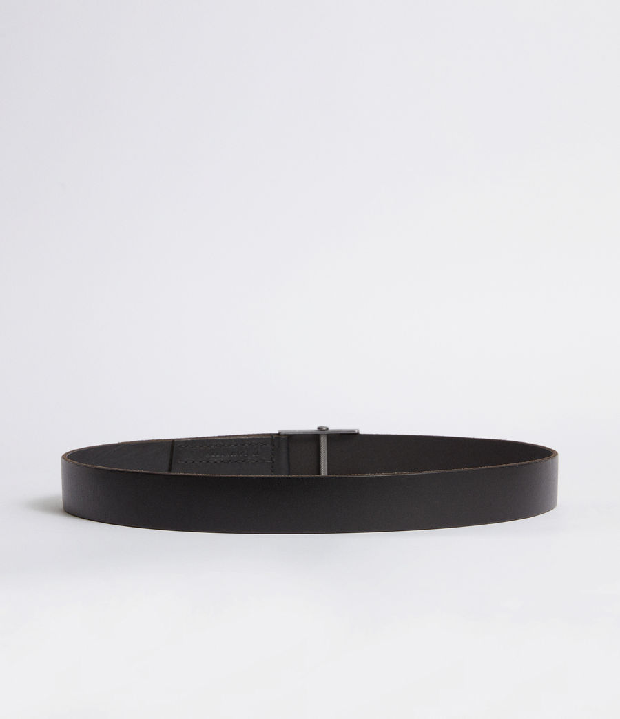 Mens Hawken Leather Belt (black) - Image 4