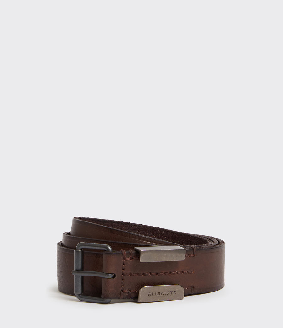 Mens Verge  Leather Belt (bitter_brown) - Image 1