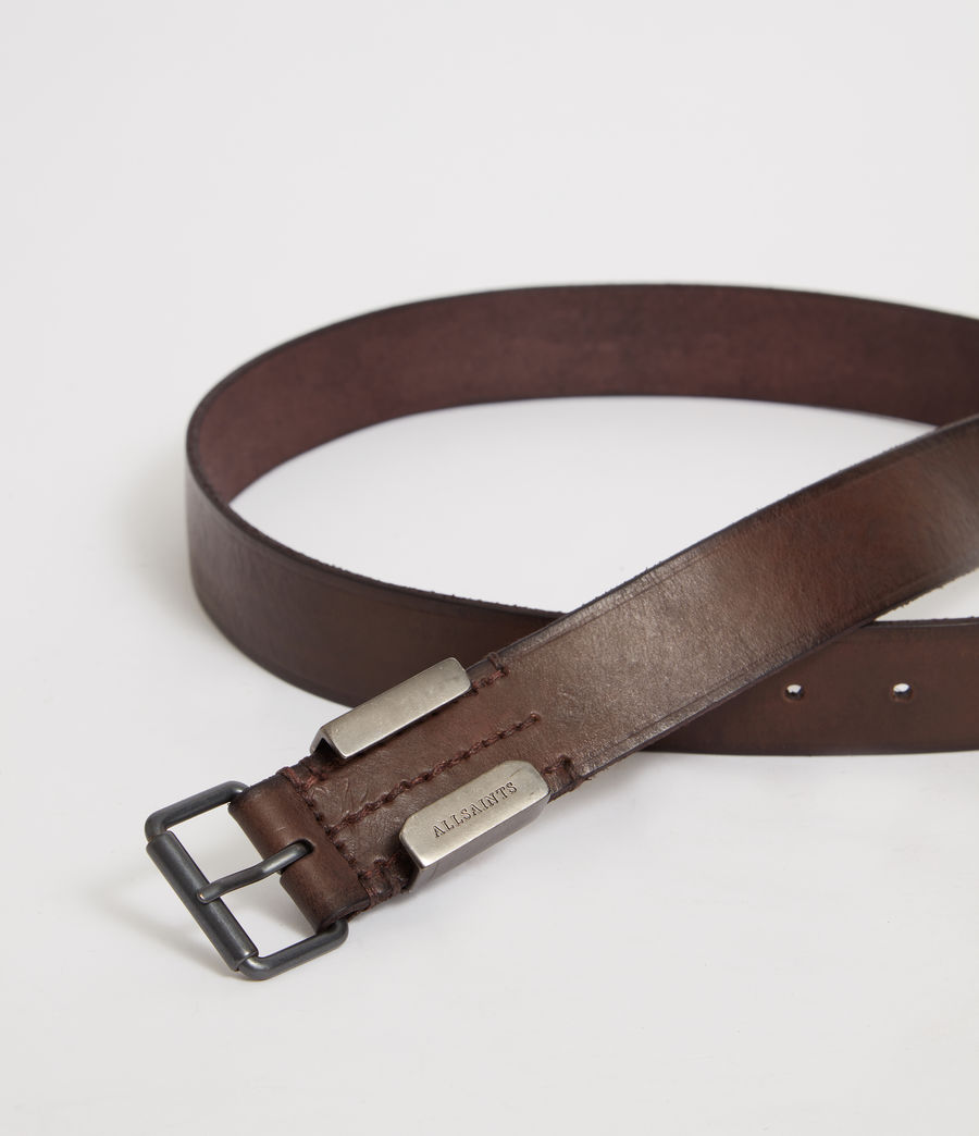Mens Verge  Leather Belt (bitter_brown) - Image 2