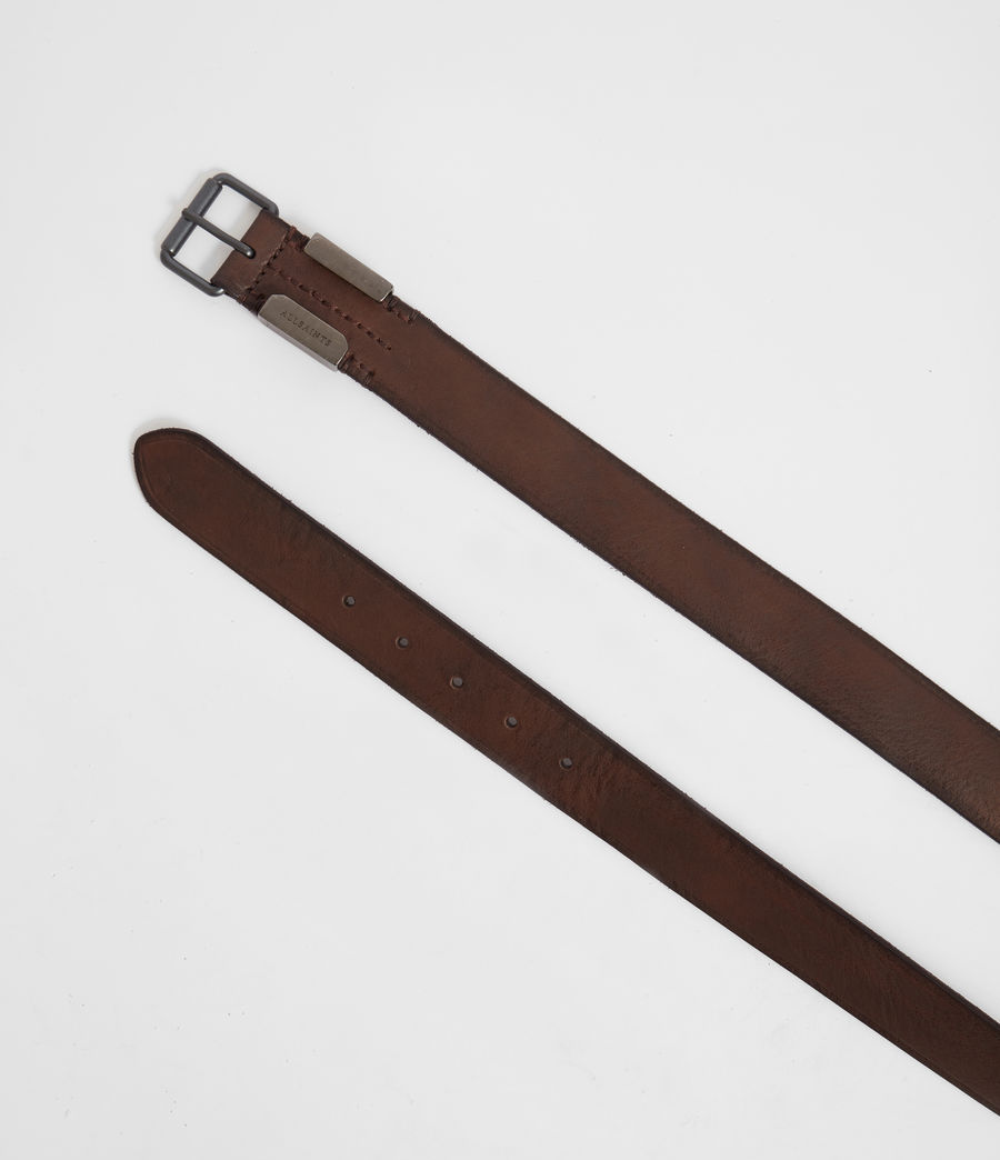 Mens Verge  Leather Belt (bitter_brown) - Image 3