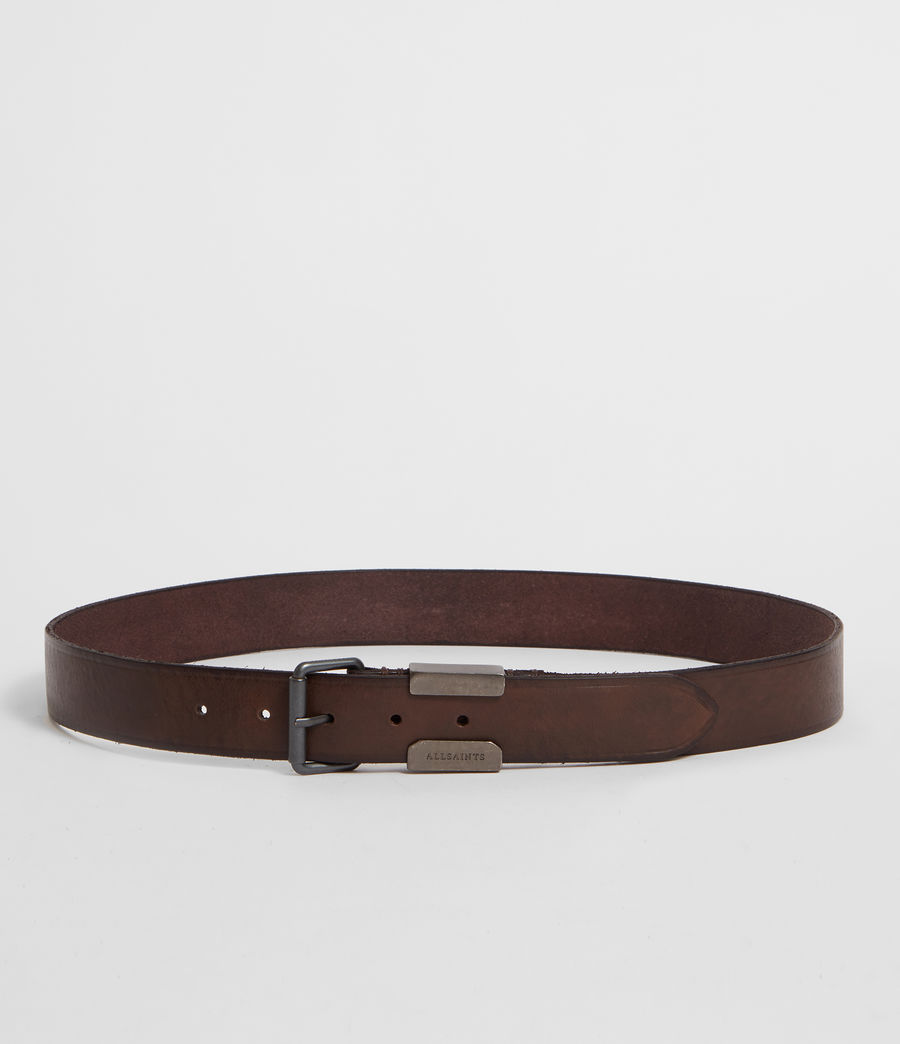 Mens Verge  Leather Belt (bitter_brown) - Image 4