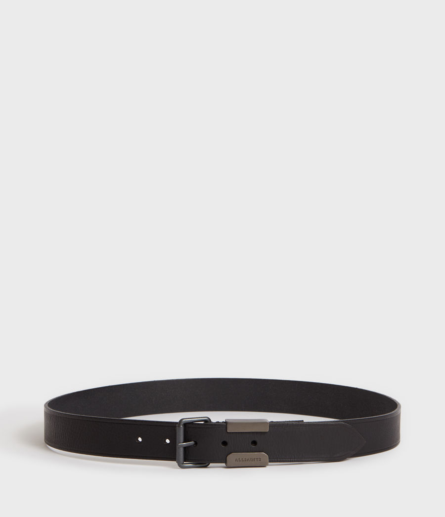 Mens Verge Leather Belt (black_oxi_black) - Image 3