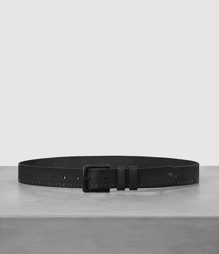 Mens Slim Breach Leather Belt (anthracite_grey) - Image 1