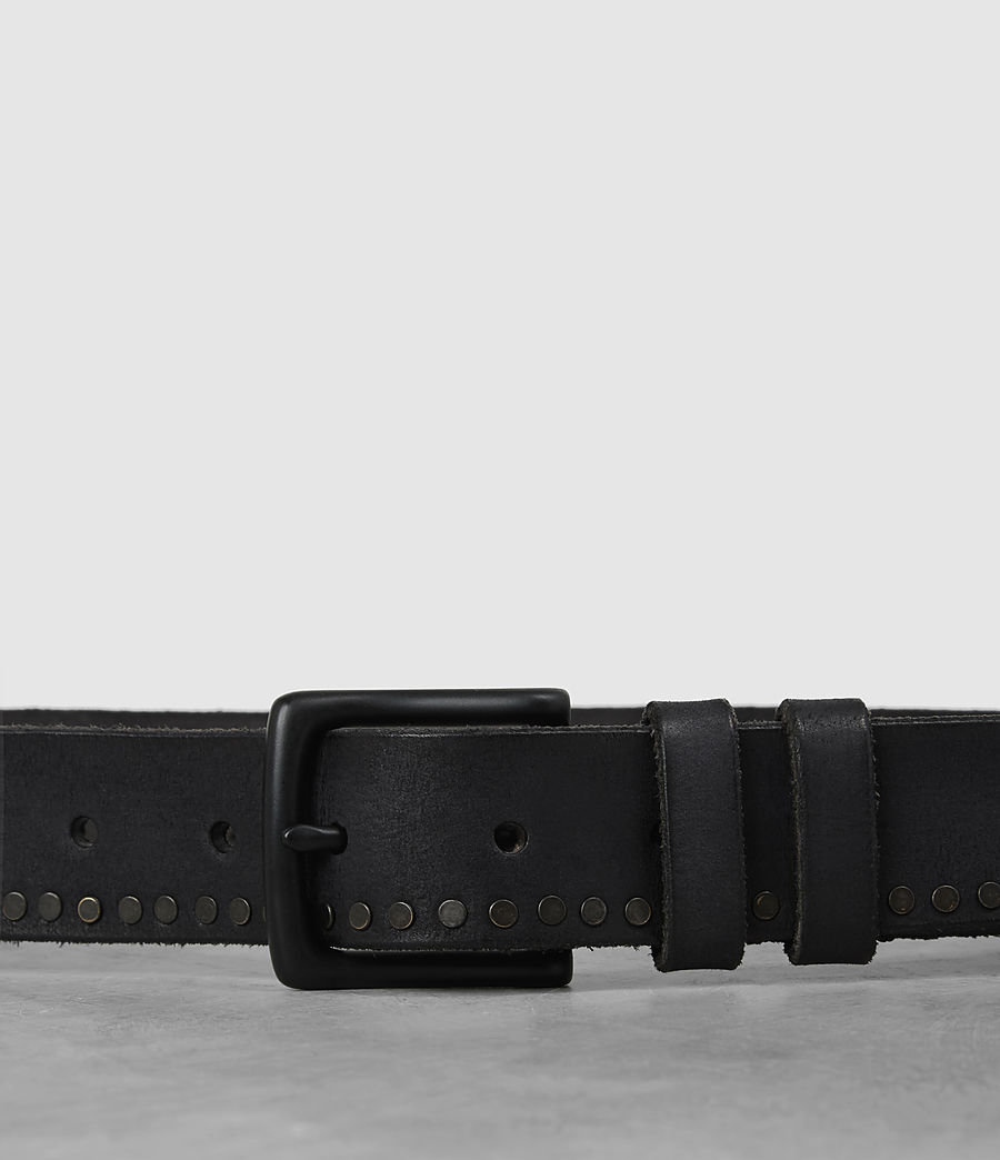 Mens Slim Breach Leather Belt (anthracite_grey) - Image 2