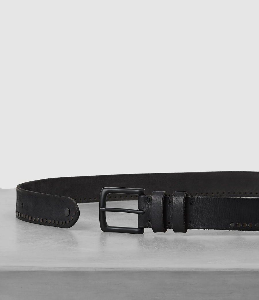 Mens Slim Breach Leather Belt (anthracite_grey) - Image 3