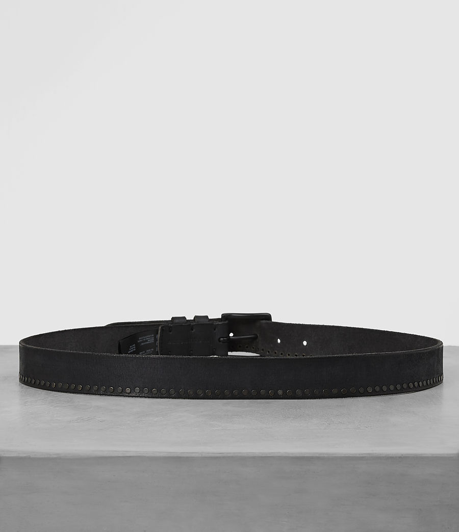 Mens Slim Breach Leather Belt (anthracite_grey) - Image 4
