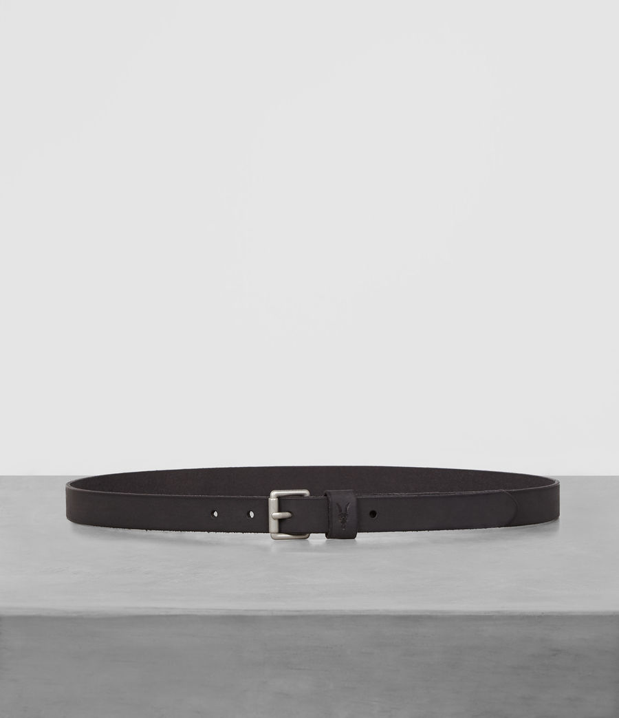 Mens Bevan Slim Belt (anthracite_grey) - Image 1