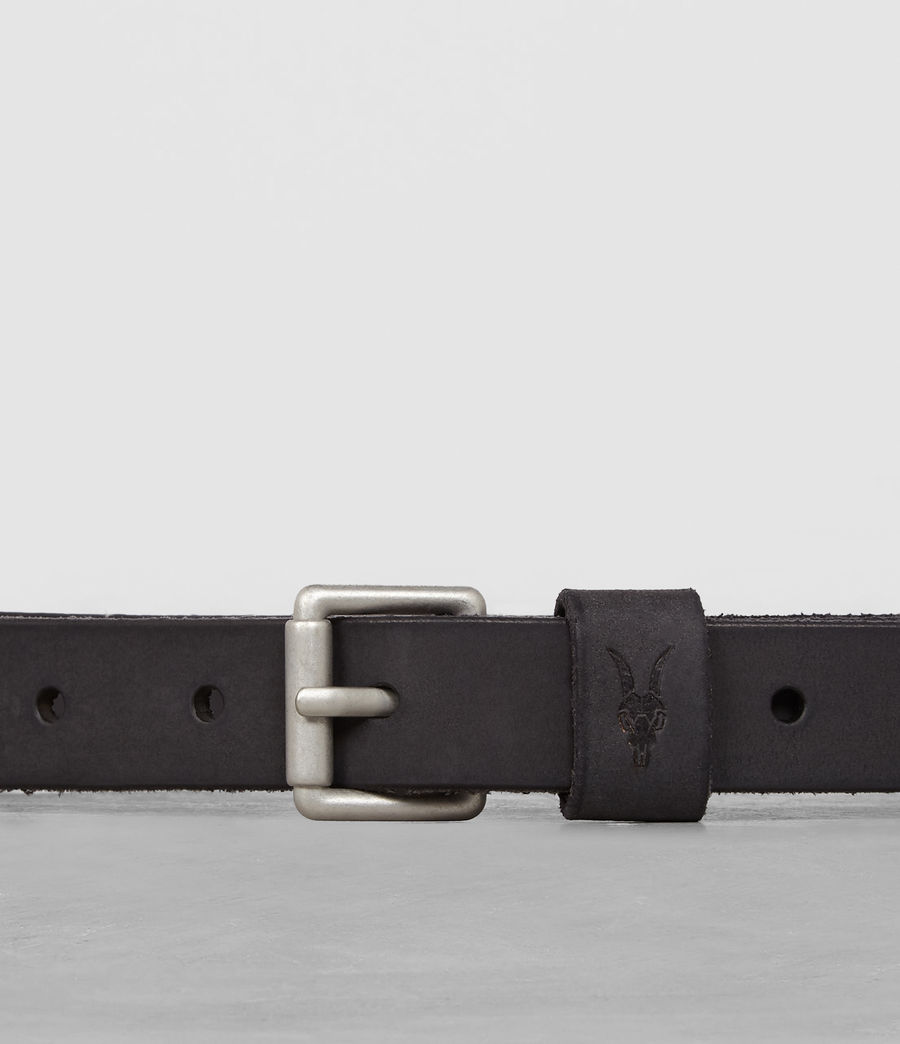 Mens Bevan Slim Belt (anthracite_grey) - Image 2