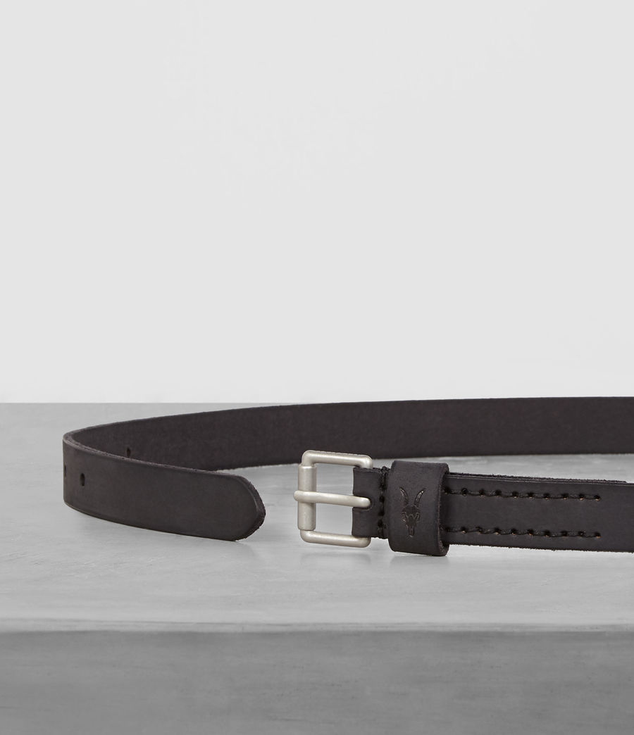 Mens Bevan Slim Belt (anthracite_grey) - Image 3