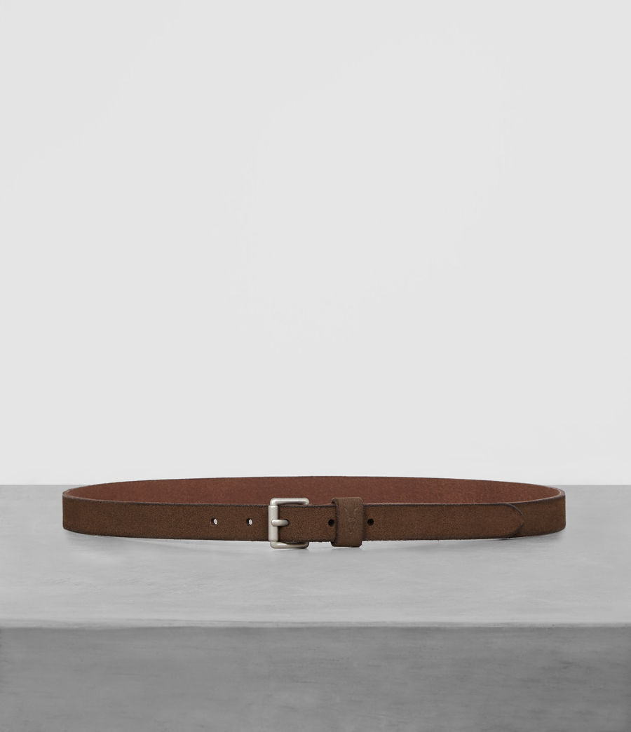 Men's Bevan Slim Belt (taupe) - Image 1