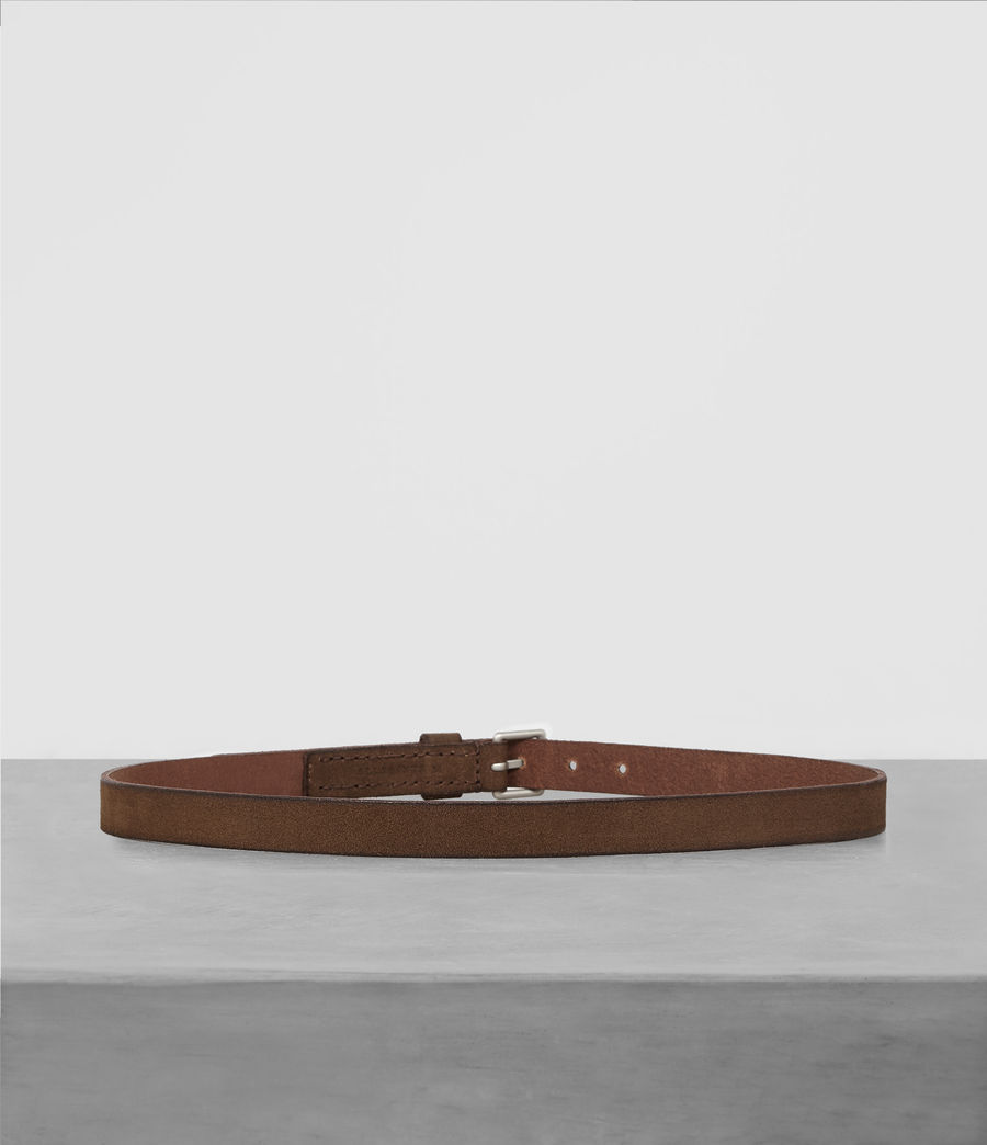 Men's Bevan Slim Belt (taupe) - Image 4
