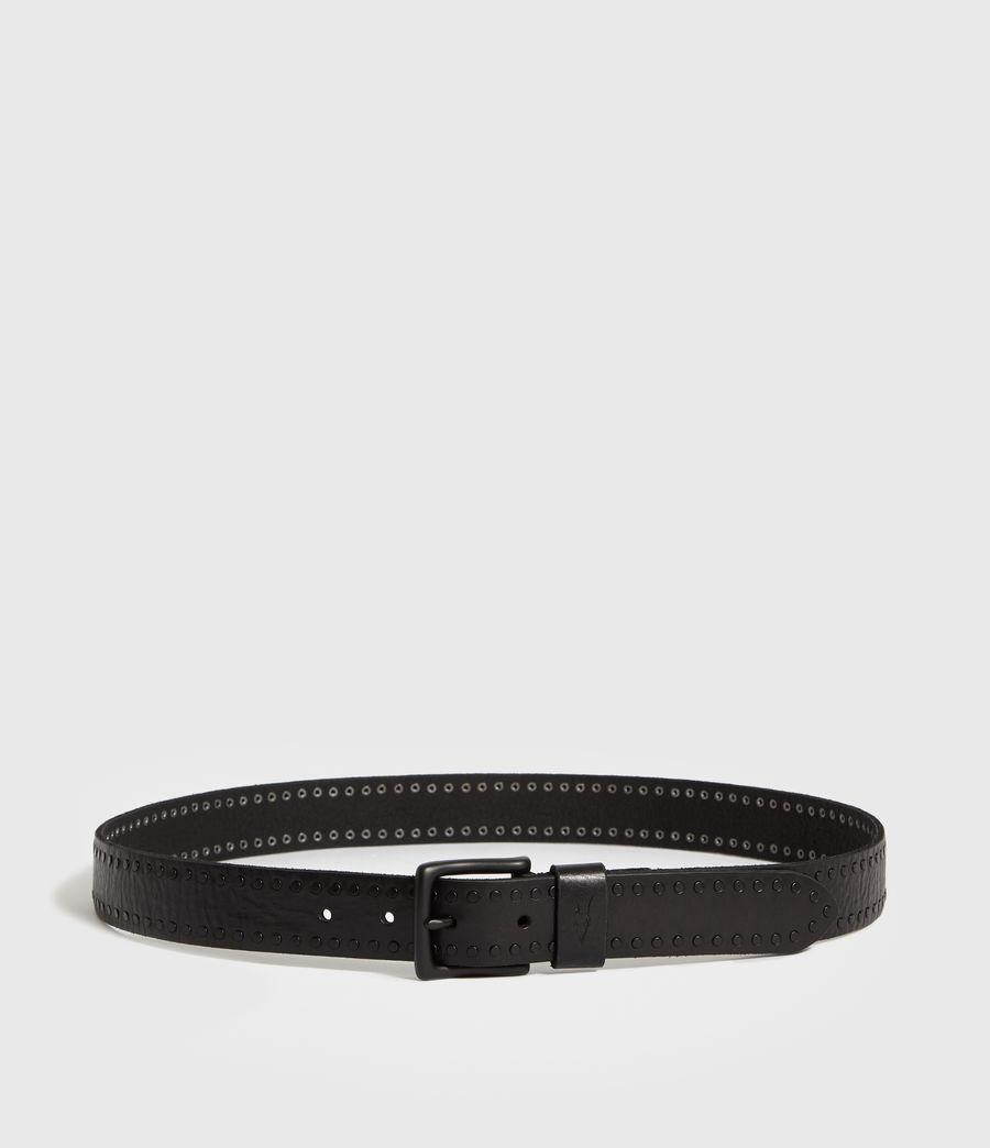 Mens Parson Stud Leather Belt (black) - Image 4