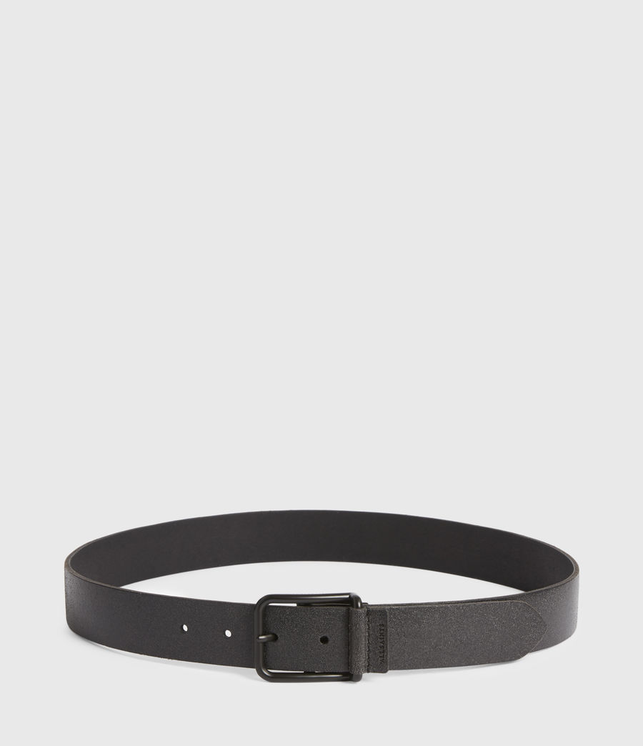 Men's Luke Leather Belt (black) - Image 4