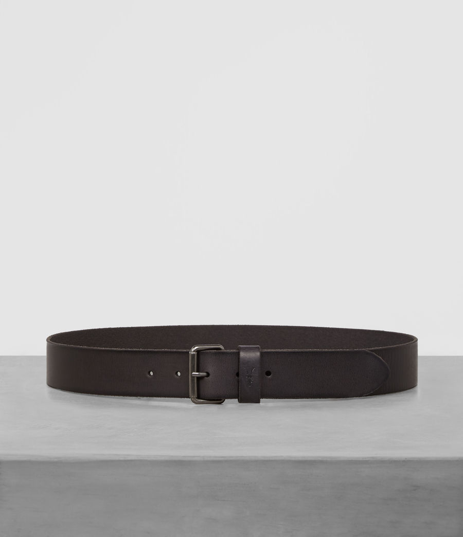 Men's Dunston Leather Belt (black) - Image 1