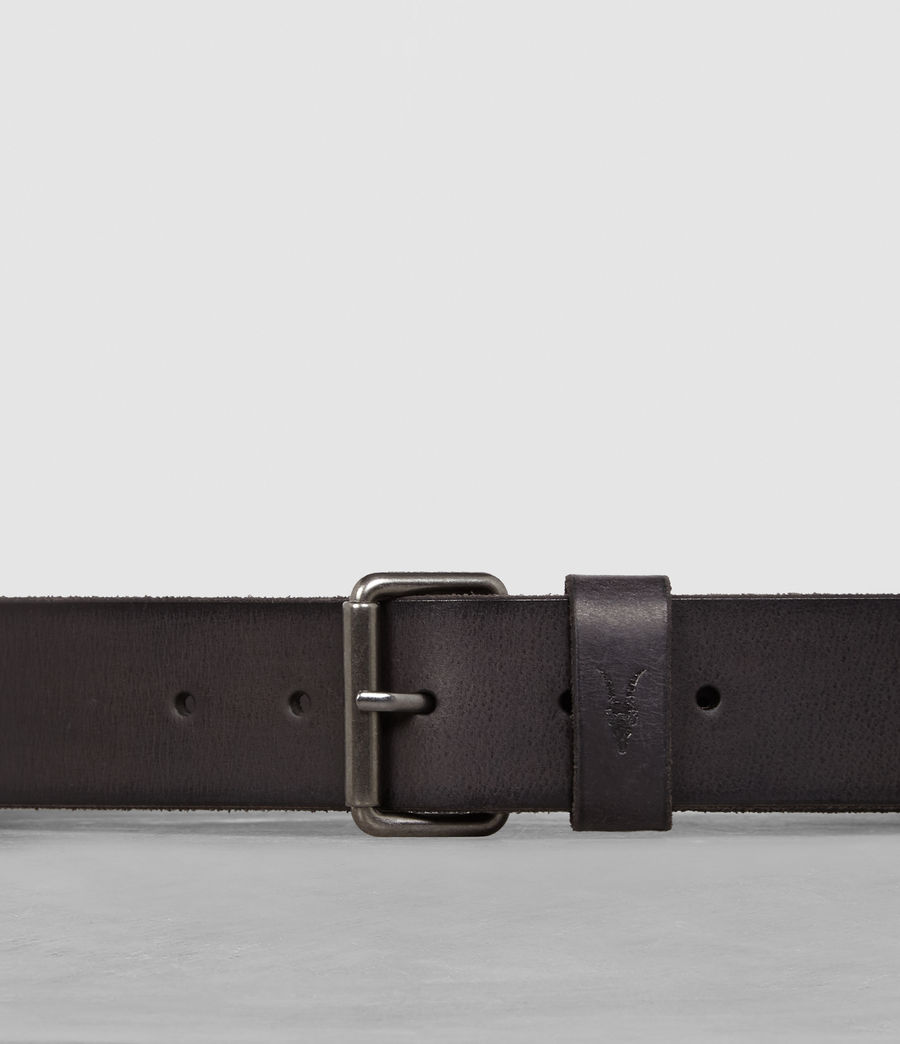 Men's Dunston Leather Belt (black) - Image 2