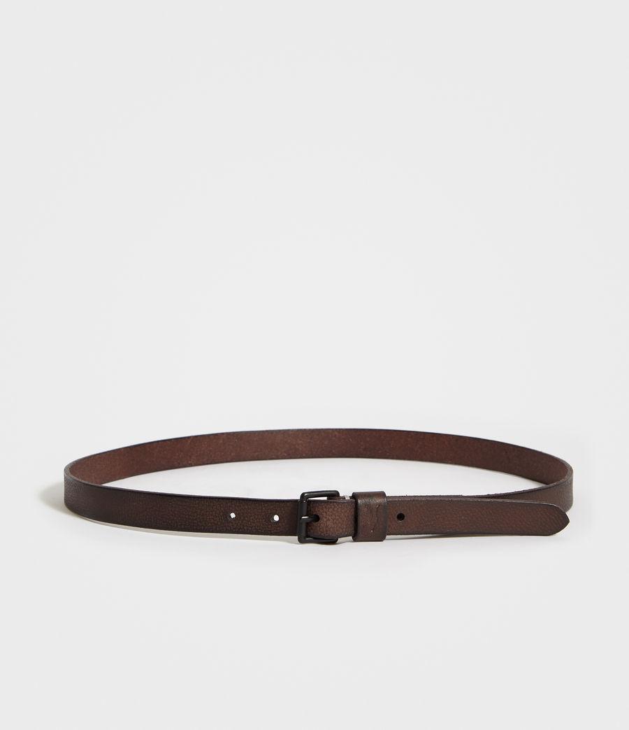 Mens Bevan Slim Leather Belt (bitter_brown) - Image 4