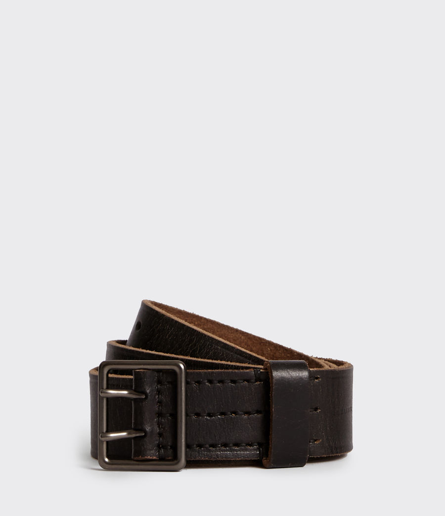 Men's Zephyr Leather Belt (vintage_black) - Image 1