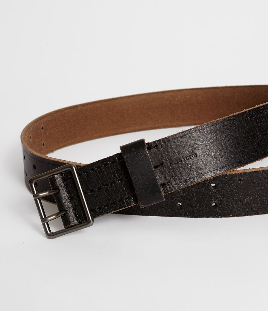 Mens Zephyr Leather Belt (vintage_black) - Image 2