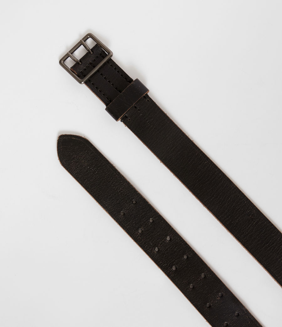 Mens Zephyr Leather Belt (vintage_black) - Image 3