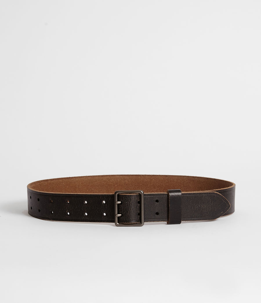 Men's Zephyr Leather Belt (vintage_black) - Image 4
