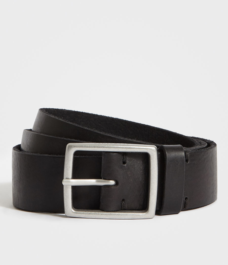 Men's Hewes Leather Belt (black) - Image 1