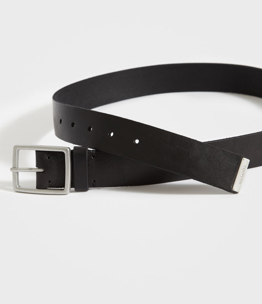 Mens Hewes Leather Belt (black) - Image 2