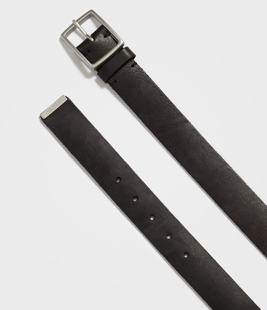 Mens Hewes Leather Belt (black) - Image 3