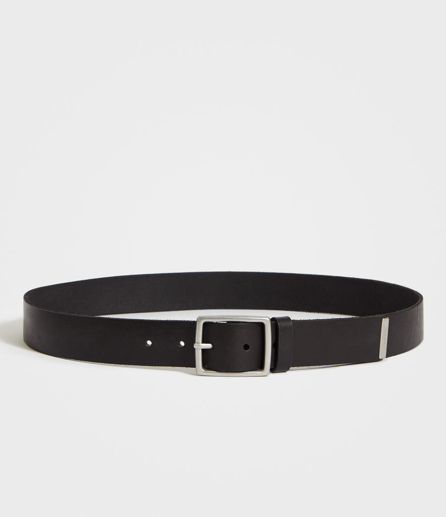 Mens Hewes Leather Belt (black) - Image 4