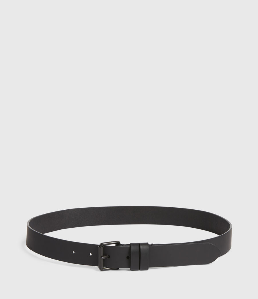 Men's Nico Skinny Leather Belt (black) - Image 4