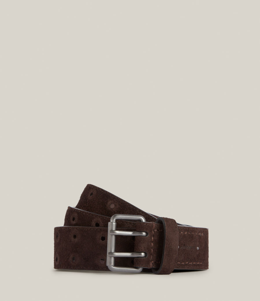 Men's Elijah Leather Belt (bitter_chocolate) - Image 1