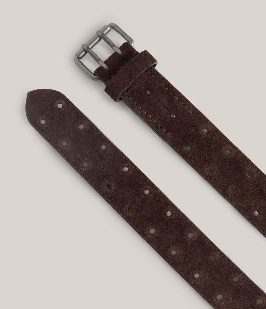 Men's Elijah Leather Belt (bitter_chocolate) - Image 2