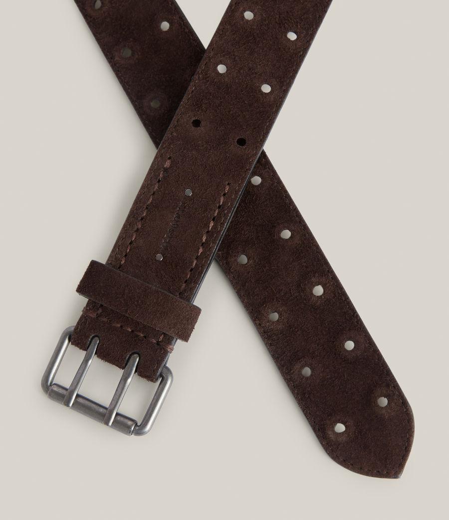 Men's Elijah Leather Belt (bitter_chocolate) - Image 3