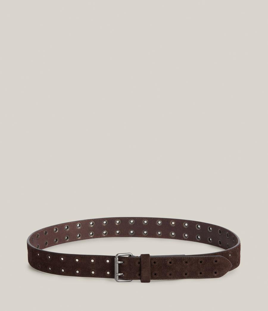 Men's Elijah Leather Belt (bitter_chocolate) - Image 4