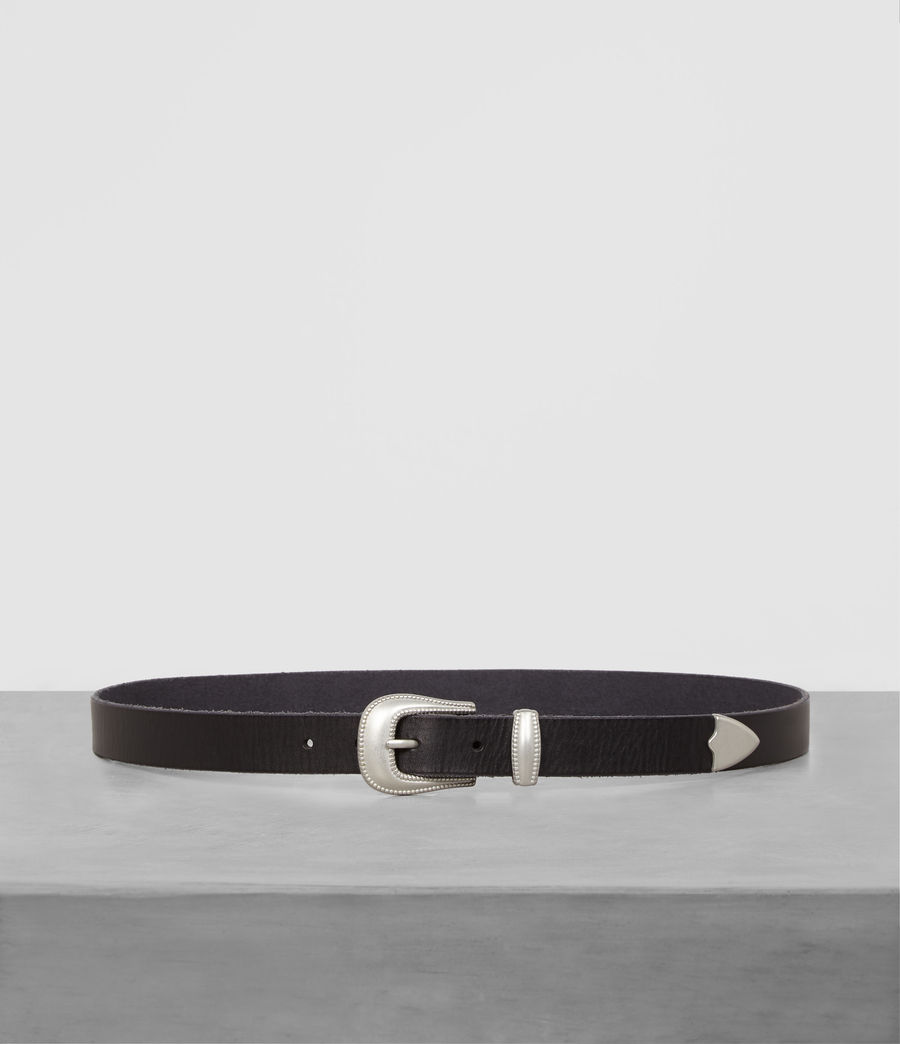 Men's Wyatt Leather Belt (black) - Image 1
