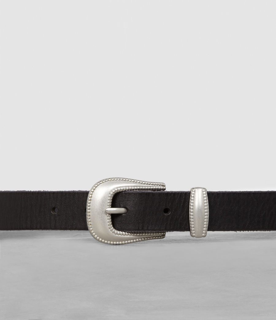 Men's Wyatt Leather Belt (black) - Image 2