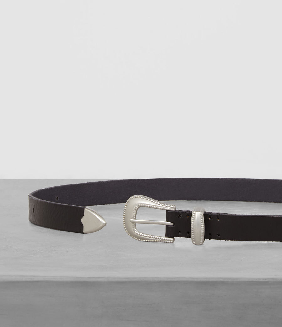 Men's Wyatt Leather Belt (black) - Image 3