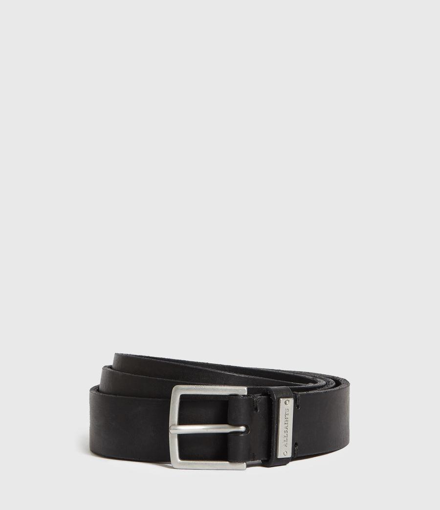 Mens Nile Leather Belt (black) - Image 1