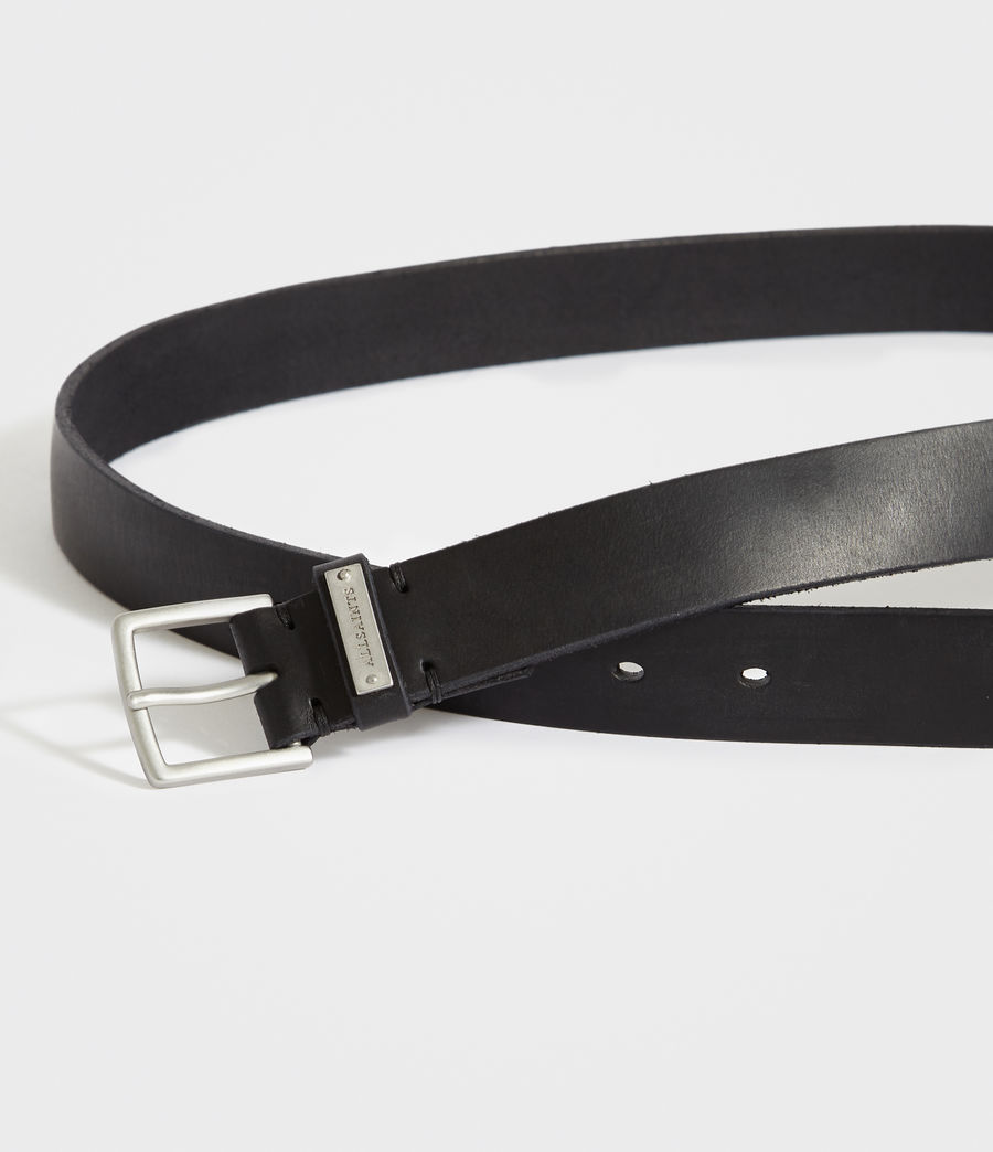 Men's Nile Leather Belt (black) - Image 3