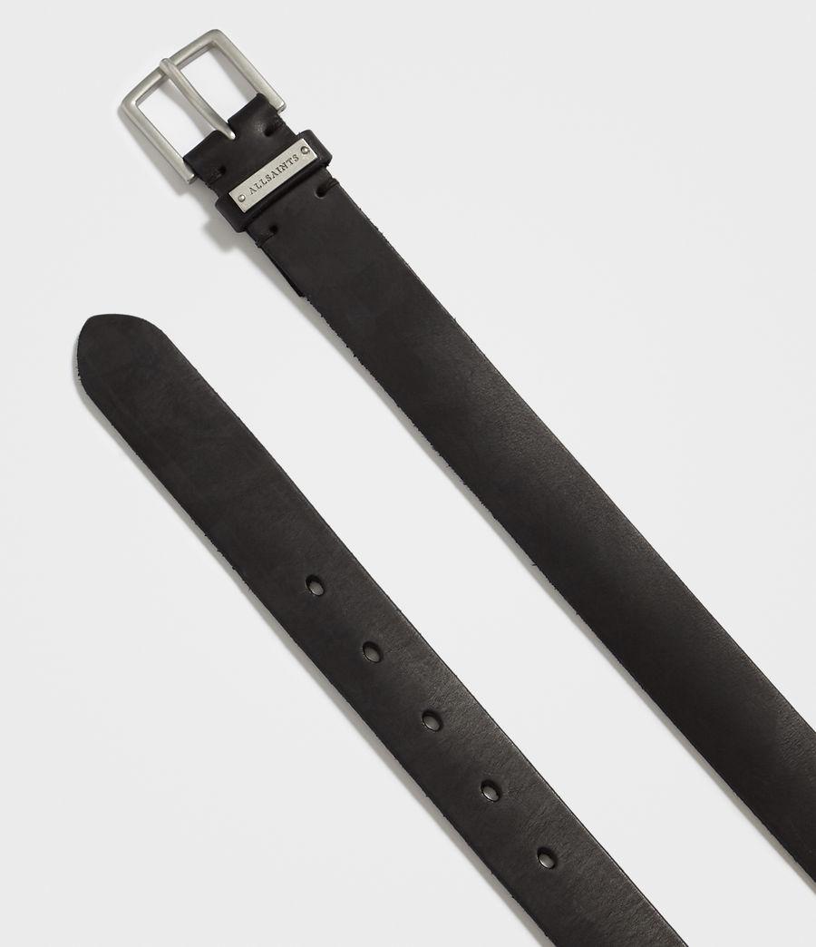 Mens Nile Leather Belt (black) - Image 4