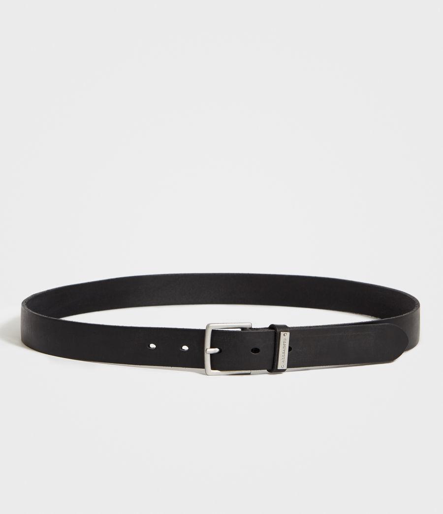 Mens Nile Leather Belt (black) - Image 5