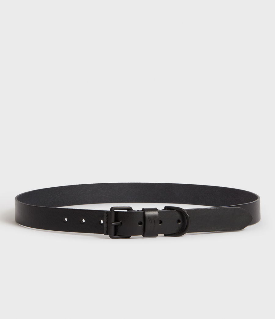 Men's Joel-D Leather Belt (black_dull_nickel) - Image 3