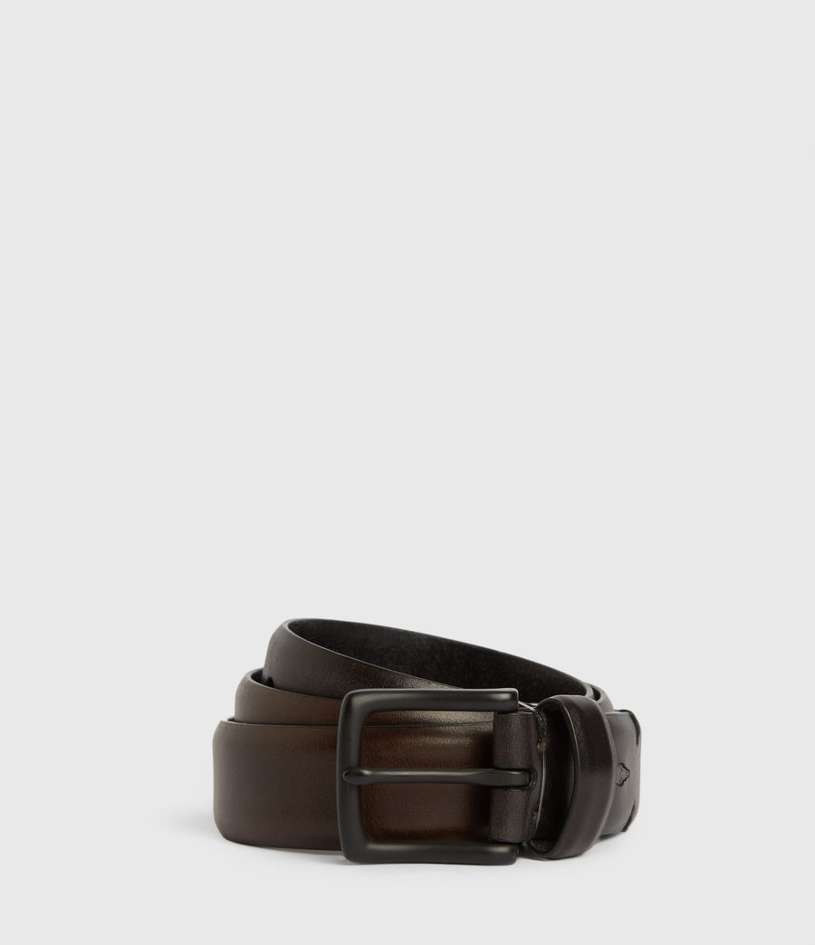 Mens Hendley Leather Belt (black) - Image 1