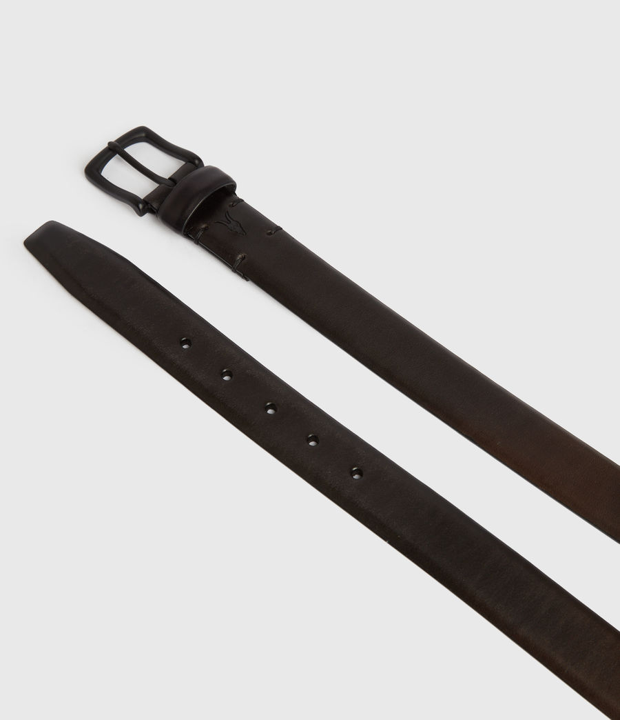 Mens Hendley Leather Belt (black) - Image 4