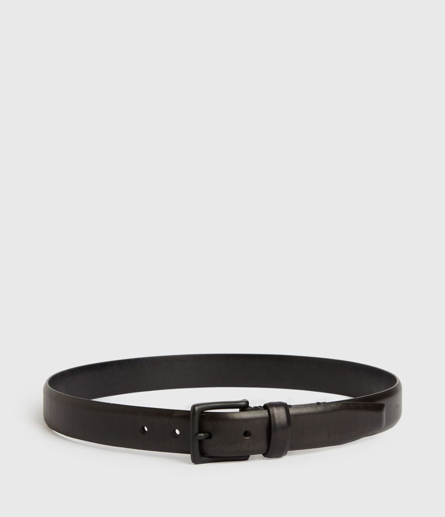 Mens Hendley Leather Belt (black) - Image 5