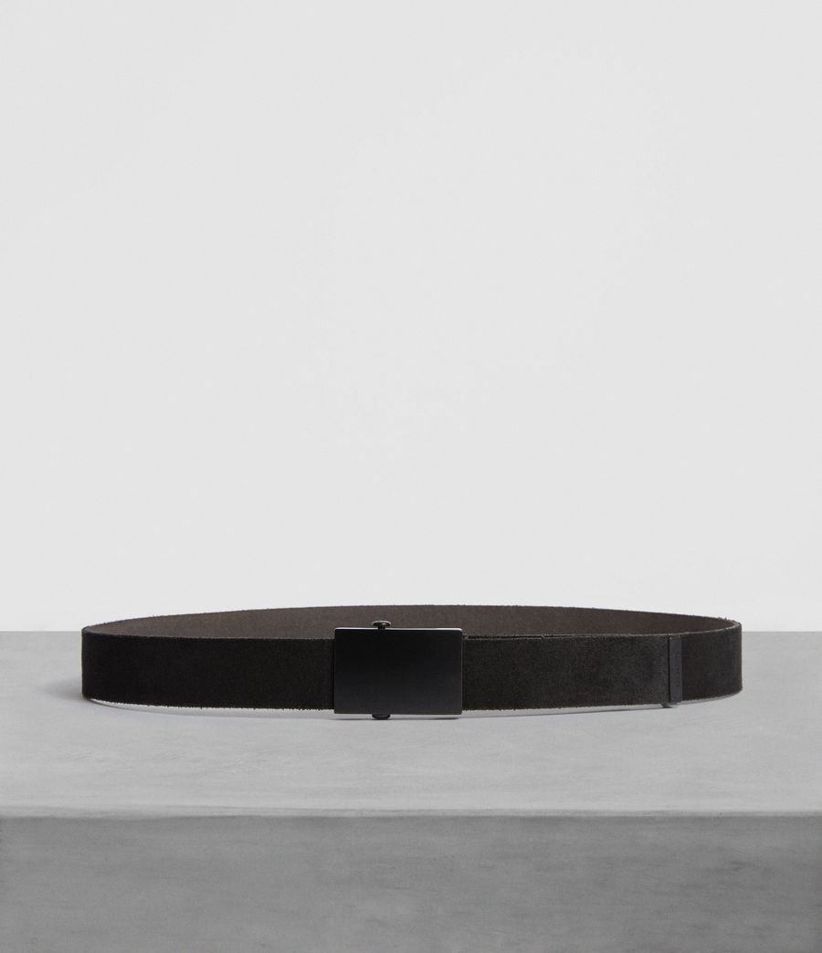 Men's Oden Leather Belt (black) - Image 1