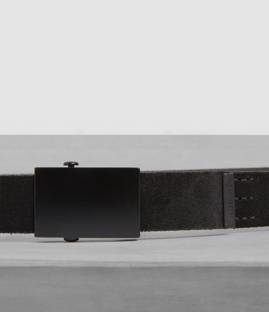 Hombres Oden Leather Belt (black) - Image 2