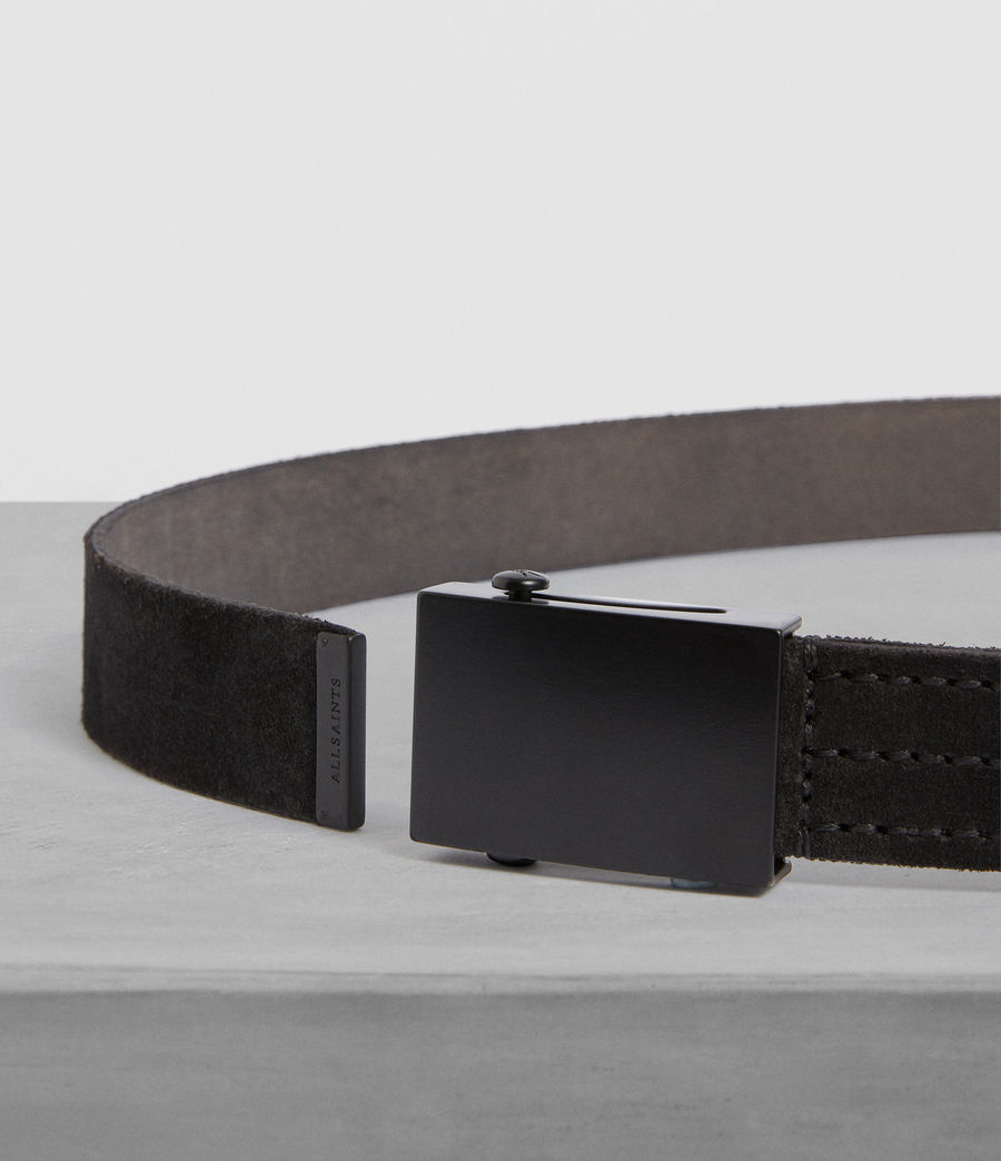 Men's Oden Leather Belt (black) - Image 3